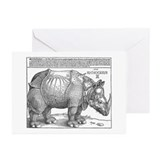 Rhino Greeting Cards (10 Pack)