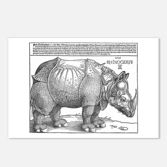 Durer Rhino Postcards (Package of 8)