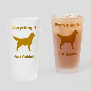 Just Golden Drinking Glass