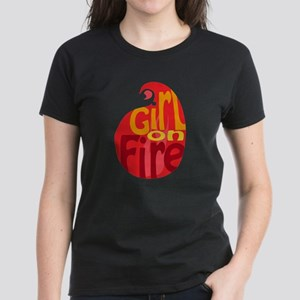 Girl On Fire Flame Women's Dark T-Shirt