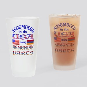 USA / Armenian Parts Drinking Glass