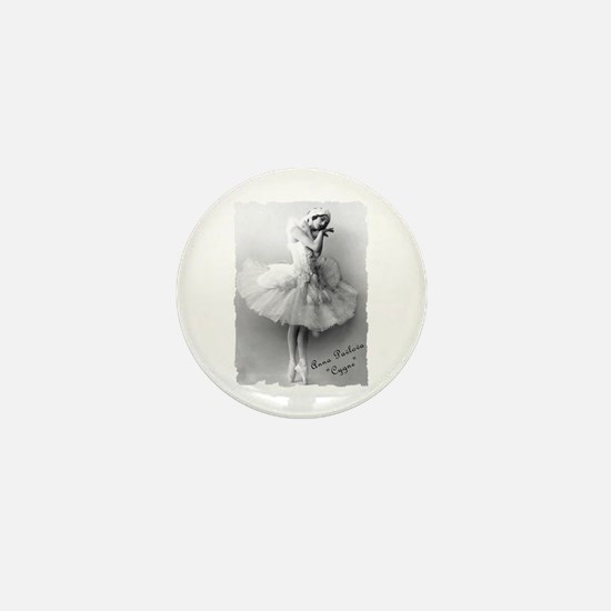 "Anna Pavlova, ""Cygne"" Mini Button"