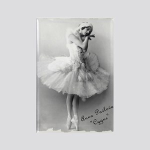 "Anna Pavlova, ""Cygne"" Rectangle Magnet"