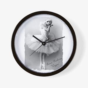 """Anna Pavlova, """"Cygne"""" Wall Clock"""