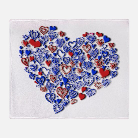 Bunches of Hearts Throw Blanket