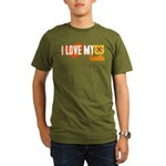 I Love My Coastie Organic Men's T-Shirt (dark)