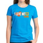 I Love My Coastie Women's Dark T-Shirt