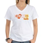 I Love My Coastie Women's V-Neck T-Shirt