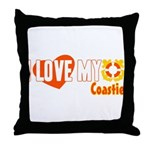 I Love My Coastie Throw Pillow