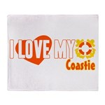 I Love My Coastie Throw Blanket