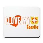 I Love My Coastie Mousepad