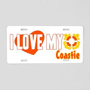 I Love My Coastie Aluminum License Plate