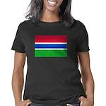 gambia flag shirt black Women's Classic T-Shirt