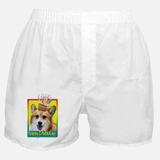 Birthday Cupcake - Corgi Boxer Shorts
