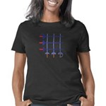 blueswordgridCropped_CPDar Women's Classic T-Shirt