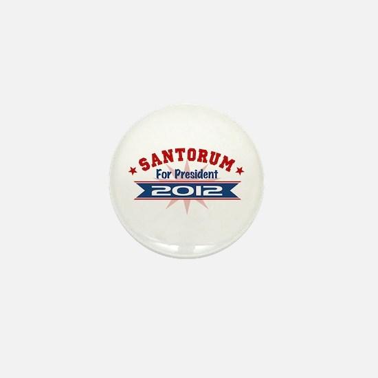 Rick Santorum President 2012 Mini Button