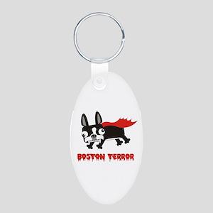 Boston Terror Aluminum Oval Keychain