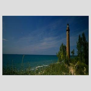 Lighthouse at the coast, Little Point Sable Light