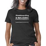 skateboarding.black Women's Classic T-Shirt