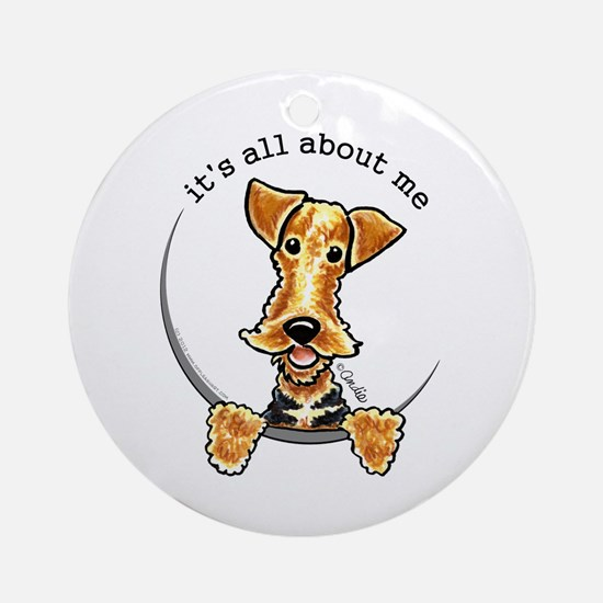 Funny Airedale Welsh Terrier Ornament (Round)