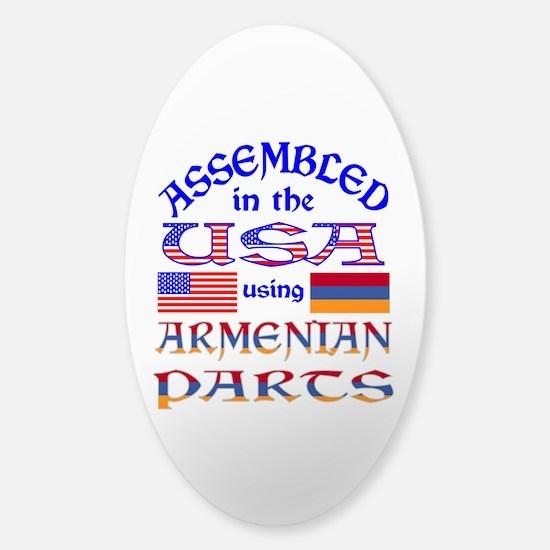USA / Armenian Parts Sticker (Oval)
