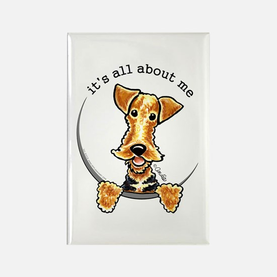 Funny Airedale Welsh Terrier Rectangle Magnet