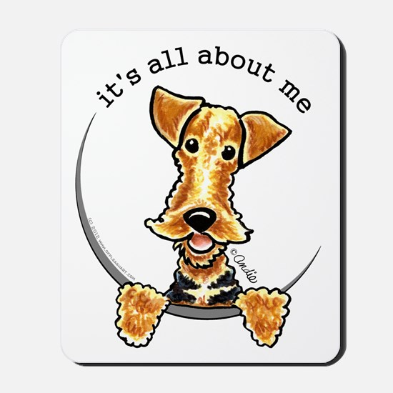 Funny Airedale Welsh Terrier Mousepad