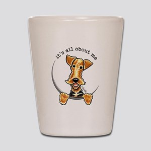 Funny Airedale Welsh Terrier Shot Glass