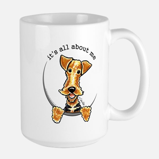 Funny Airedale Welsh Terrier Large Mug