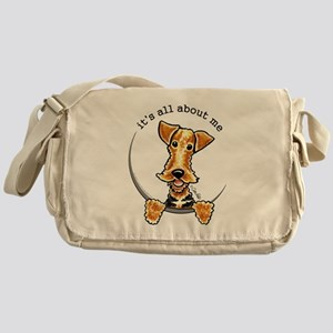 Funny Airedale Welsh Terrier Messenger Bag
