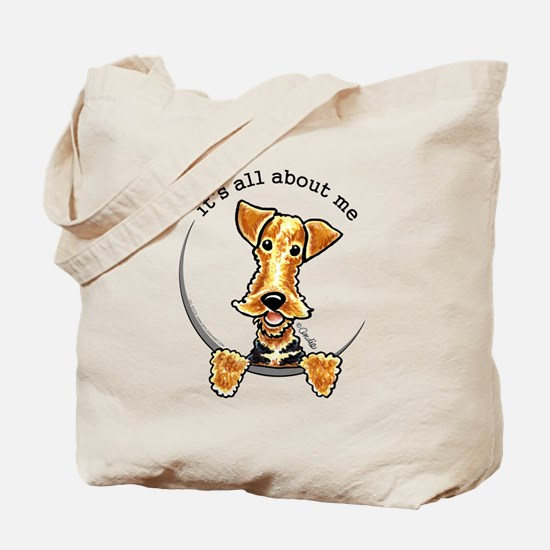 Funny Airedale Welsh Terrier Tote Bag
