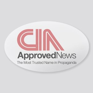 CIA News Sticker (Oval)