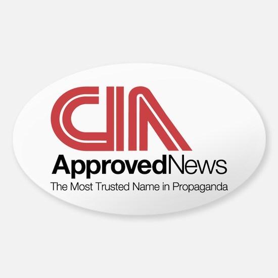 CIA News Sticker (Oval)