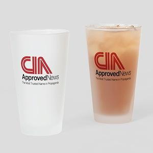 CIA News Drinking Glass