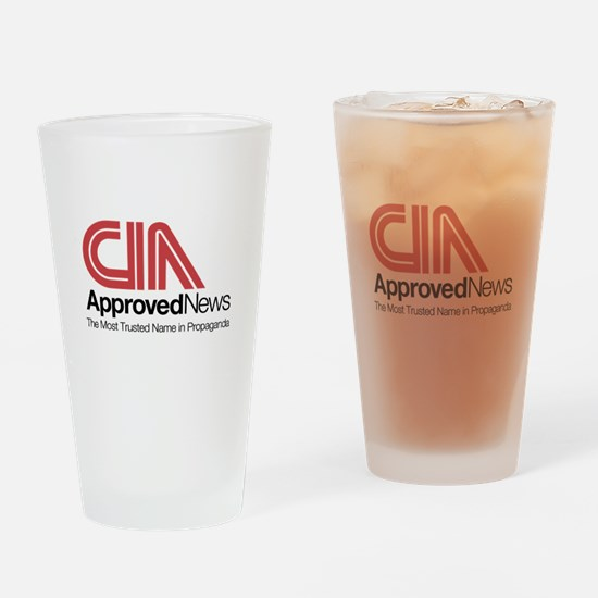 CIA News Drinking Glass