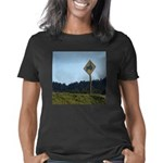 Farmer Crossing Sign Women's Classic T-Shirt