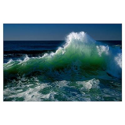 Wave crashing on Pacific Coast, Oregon, united sta Poster