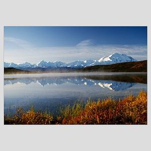 Mount McKinley and Alaska Range, water reflection,