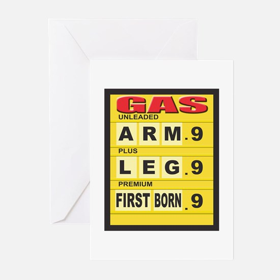 Gas Prices Greeting Cards (Pk of 10)