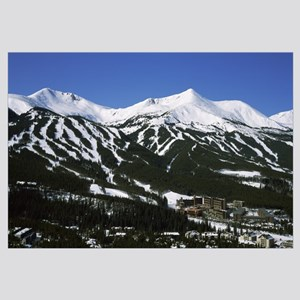 Ski resorts in front of a mountain range, Breckenr