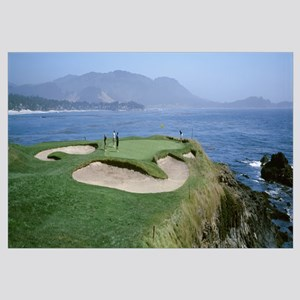 People playing golf at a golf course, Pebble Beach