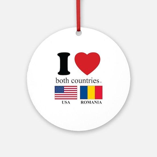 USA-ROMANIA Ornament (Round)