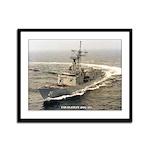USS FLATLEY Framed Panel Print