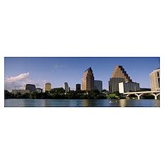 Skyline Austin TX USA Poster