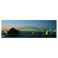 Opera House and Harbor Bridge Sydney Australia Poster