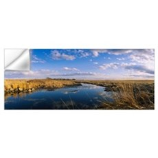 Reflection of clouds in a lake, Prairie Pothole Re Wall Decal