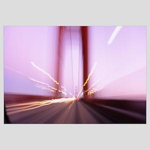 Traffic on a suspension bridge, Golden Gate Bridge