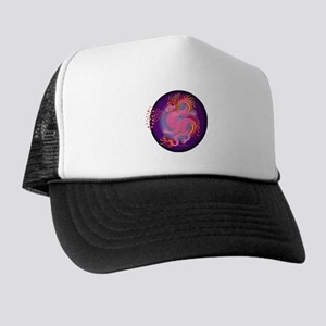 Pink Dragon with Hearts Trucker Hat