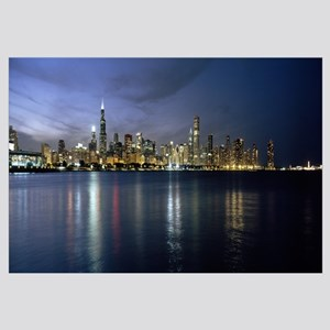 City at the waterfront, Chicago, Cook County, Illi