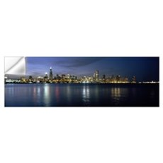 City at the waterfront, Chicago, Cook County, Illi Wall Decal
